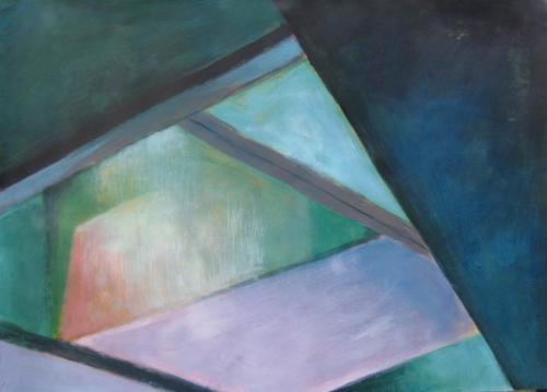 Lichteinfall-2015-Acryl-auf-Papier-50x70cm