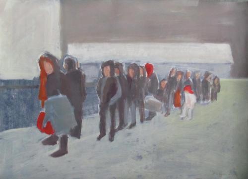 Flucht-02-gesichtslos-2016-Acryl-auf-Leinwand-50x70cm