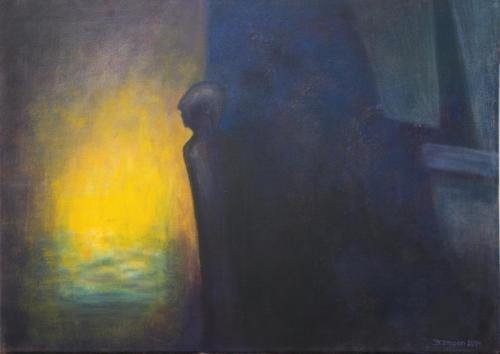01-In-Deckung-2014-Acryl-auf-Leinwand-50x70cm-Privatbesitz